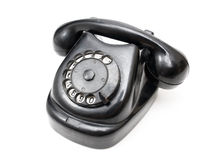 Black retro telephone Stock Image