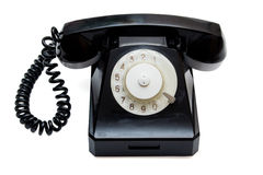 Black retro telephone Stock Photography
