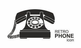 Black vintage telephone isolated on white Royalty Free Stock Image