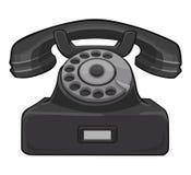 Black retro telephone Stock Images