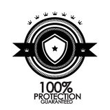Black retro vintage label protection stamp Royalty Free Stock Photo