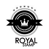 Black retro vintage label | tag | badge | royal Stock Images
