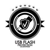 Black retro vintage label | tag | badge | usb Royalty Free Stock Photos