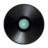 Black retro vinyl record Stock Image