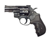 Black revolver Stock Photo