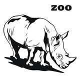 Black rhino mascot Royalty Free Stock Photos