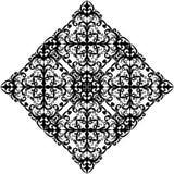 Black rhombus design on white Stock Photos