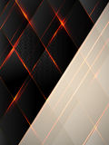 Black rhombuses with a luminescence and sparks Royalty Free Stock Photos