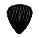 Black ribbed guitar plectrum Royalty Free Stock Photography