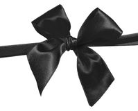 Black ribbon. And bow isolated on white background Royalty Free Stock Photo