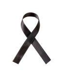 Black ribbon. On white background Royalty Free Stock Photo