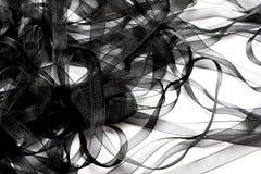 Black Ribbon Background Stock Photos