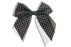 Black ribbon bow Stock Photography