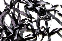 Black ribbon. Isolated on white background Royalty Free Stock Image