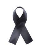 Black ribbon isolated on white background Stock Image