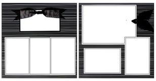 Black Ribbon Scrapbook Frame Template Royalty Free Stock Photos