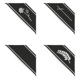 Black ribbon set Stock Photos