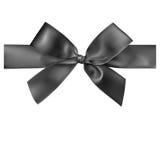 Black ribbon on white background. Stock Photo