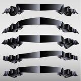 Black ribbons Royalty Free Stock Images