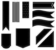 Black ribbons Stock Photography