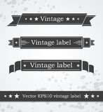 Black ribbons with retro vintage styled design Royalty Free Stock Photo