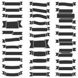 31 Black Ribbons Royalty Free Stock Image