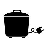 Black rice cooker graphic design. Black rice cooker vector illustration graphic design Royalty Free Stock Image