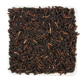 Black rice on cup Stock Image