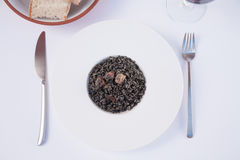 Black rice dish ready to eat Royalty Free Stock Image