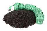 Black rice and meter Stock Photos