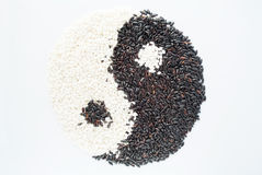 Black rice and white rice Royalty Free Stock Photo