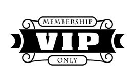 Black rich decorated VIP design on a white background. Stock Images