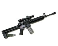 Black Rifle Royalty Free Stock Photography