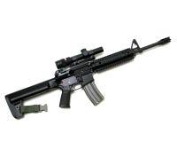 Black Rifle Royalty Free Stock Photography