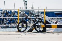 Black Rigid Bike Stock Photography