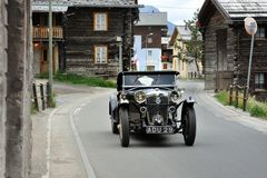 A black Riley Alpine Trial Six built in 1934 Stock Images