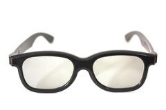 Black rimmed glasses isolated Stock Photo