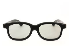 Black rimmed glasses isolated Royalty Free Stock Images