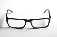 Black rimmed reading glasses Stock Images