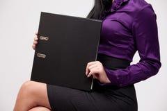 Black ring binder Royalty Free Stock Images