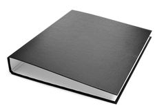 Black ring binder Stock Photos