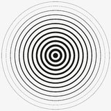 Black Rings sound wave and line in a circle. Tap symbol. Radio signal background. Vector template illustration abstract speed. Red Rings sound wave and line in a royalty free illustration