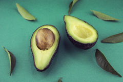 Black Ripe Avocados Royalty Free Stock Images