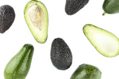 Black Ripe Avocados Stock Photos