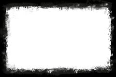 Black ripped border frame over white background horizontal image with copy space for writing - horizontal. Stock image royalty free illustration