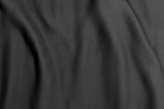 Black rippled fabric Stock Photos