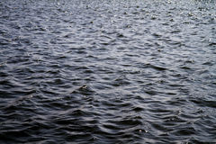 Black rippled water Royalty Free Stock Images
