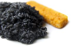 Black Rise And Orange Fish Stick Royalty Free Stock Photos