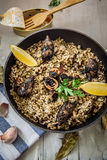 Black Risotto Stock Photography