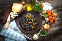 Black Risotto Stock Image